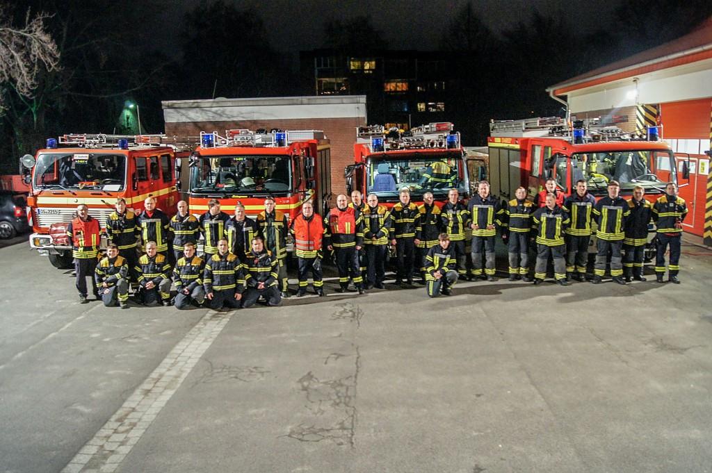Das gesamte Team der Freiwilligen Feuerwehr Osnabrück Stadtmitte